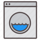 appliance, chores, clothes, household, machine, task, washing icon