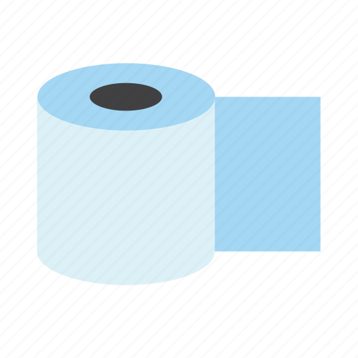 bathroom, restroom, toilet, toilet paper, toilet tissue icon