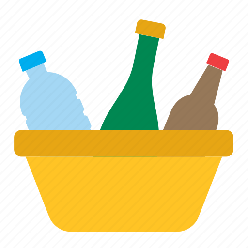 basket, bottle, cleaning, housekeeping, housework, recycle, recycling icon