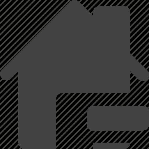 estate, house, real, remove icon