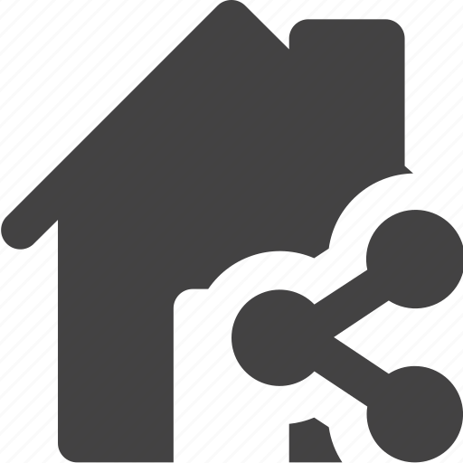 estate, house, real, share icon