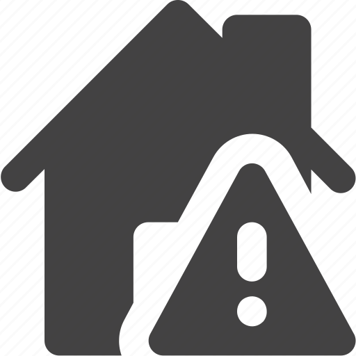estate, house, real, warning icon
