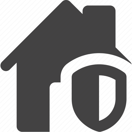 estate, house, protect, real, security, shield icon