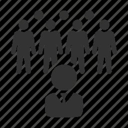 crowd, employer, hr, leader, manager, personnel, workforce icon