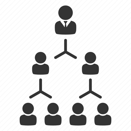 business, corporate, hierarchy, leadership, management, network, team icon