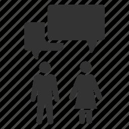 argument, chat, conversation, couple, dialogue, marriage, negotiation icon