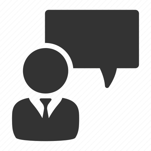 comment, complaint, employee, feedback, opinion, staff icon