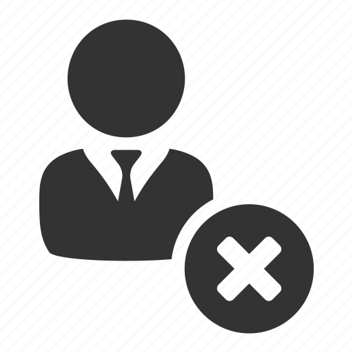 declined, employee, profile, redundancy, remove, staff, user icon