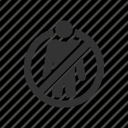 discharge, discrimination, dismissal, exit, redundancy, remove icon