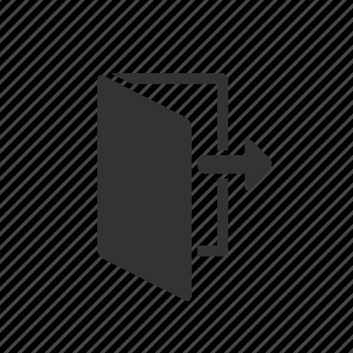 discharge, discrimination, dismissal, door, exit, redundancy, remove icon