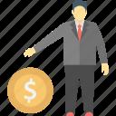 investor, dealer, trader, businessperson, businessman icon