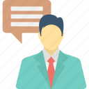 chat, chat room, communication, man chat, speech icon