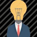bright idea, creative idea, genius, intelligent, mind power icon