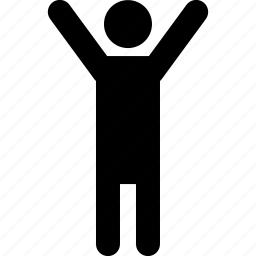 gesture, hands, hi, man, stand, wave, waving icon
