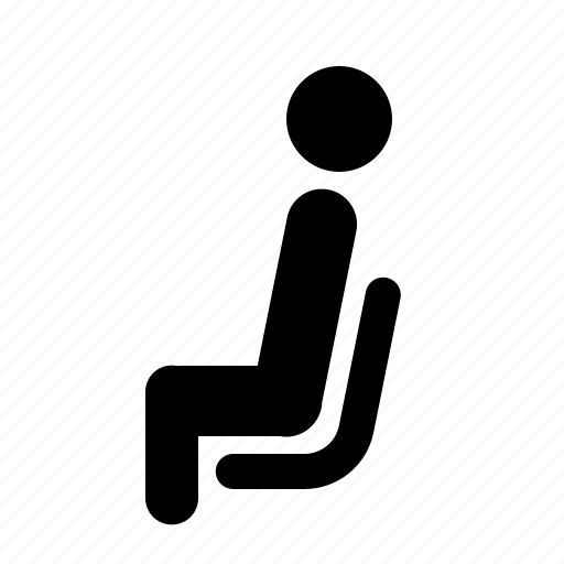 activity, man, right, side, sitting, view, waiting icon