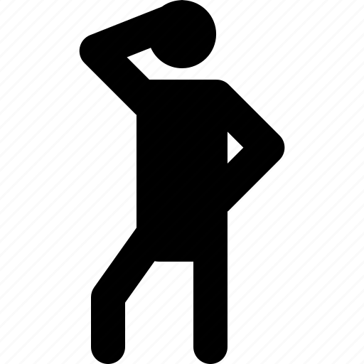 activity, finding, man, position, searching, standing, thinking icon