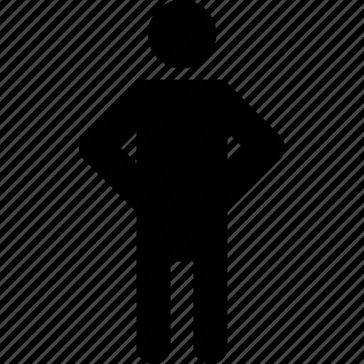 activity, hands, man, standing, waist, wait, waiting icon