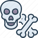 bones, crossbones, danger, halloween, poison, skeleton, skull