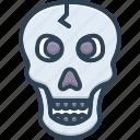 bone, danger, halloween, poison, skeleton, skull, warning icon