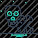 bones, crossbones, halloween, poison, skeleton, skull, warning icon