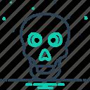danger, halloween, poison, scary, skeleton, skull, warning icon