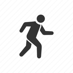 fast, fitness, jogging, move, run, running, rush icon