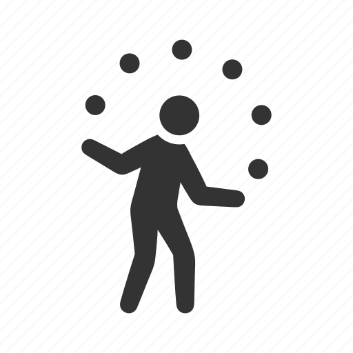 circus, entertainment, juggler, juggling, performer, show, trick icon