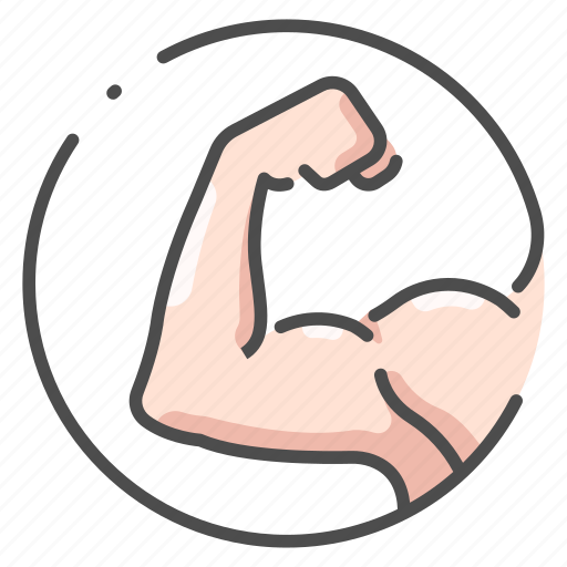 arm, athlete, body, fitness, human, male, muscle icon