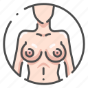 body, breast, female, human, naked, organ, young icon
