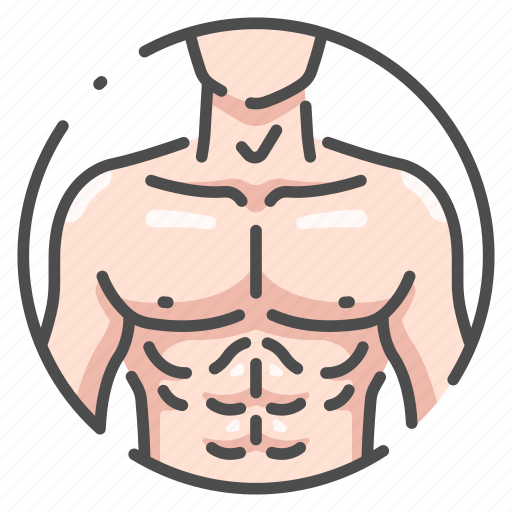 body, chest, fitness, human, male, muscle, strong icon