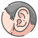 anatomy, ear, health, hear, human, medical, organ icon