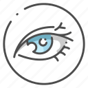 eye, eyeball, eyelash, eyesight, human, optical, organ icon