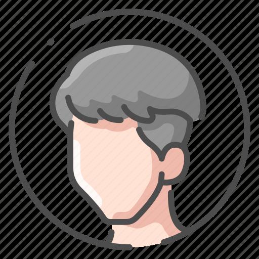 face, hair, head, human, male, person, skin icon