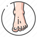 barefoot, body, foot, human, male, organ, toe icon
