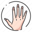body, female, finger, hand, human, organ, people icon