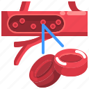 blood, red, cell, cells, erythrocytes icon