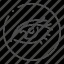eye, eyeball, eyelash, eyesight, human, optical, organ icon