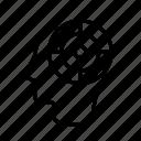 aim, dartboard, focus, goal, head, mind, target icon