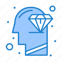 diamond, head, mind, perfection