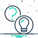 aknowledgement, answers, interaction, query, question, questions, questions and answers icon
