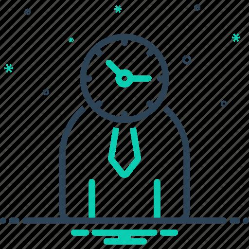 controler, manage, management, monograph, organization, person, time management icon