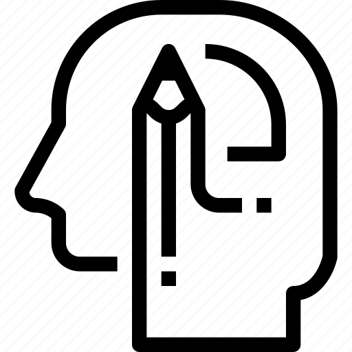 head, human, learning, mind, process icon