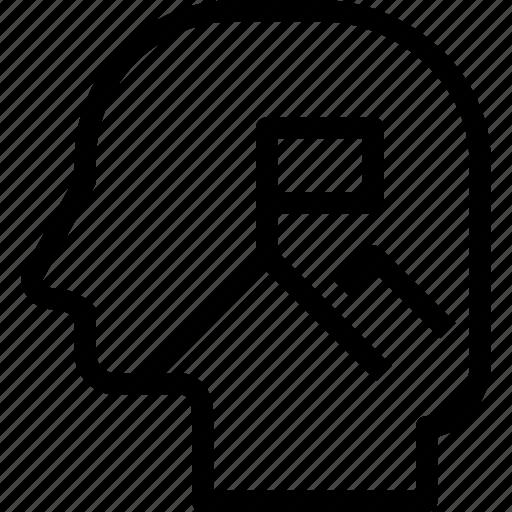 head, human, mind, mission, process icon