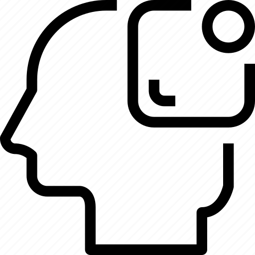 head, human, mind, notice, process icon