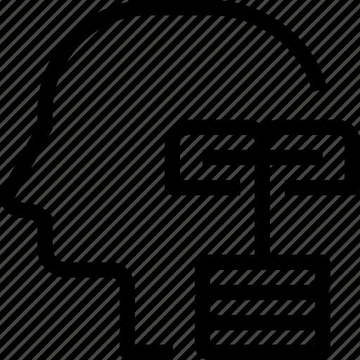 communication, head, human, mind, process icon