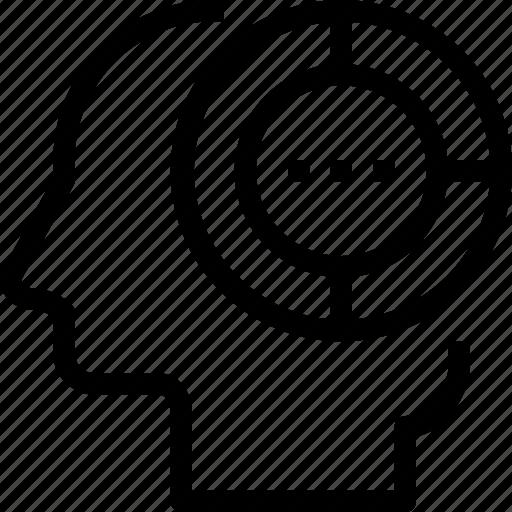 analysis, head, human, mind, process icon