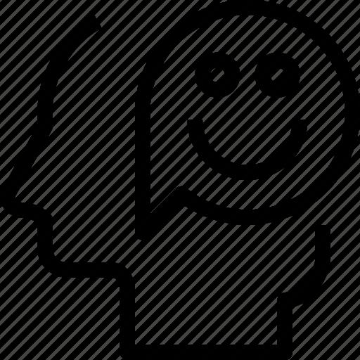 emotion, happy, head, human, mind, process icon