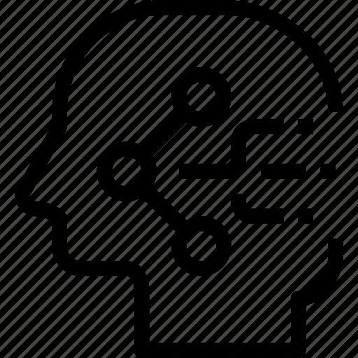 head, human, mind, process, sharing icon