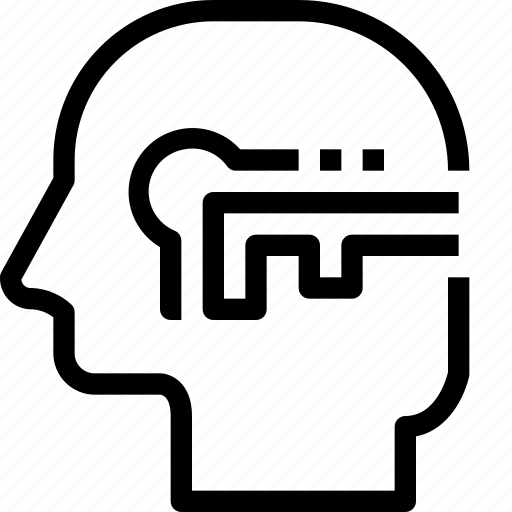 head, human, key, mind, process, success icon