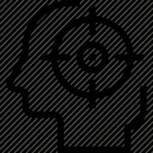 focus, head, human, mind, process icon